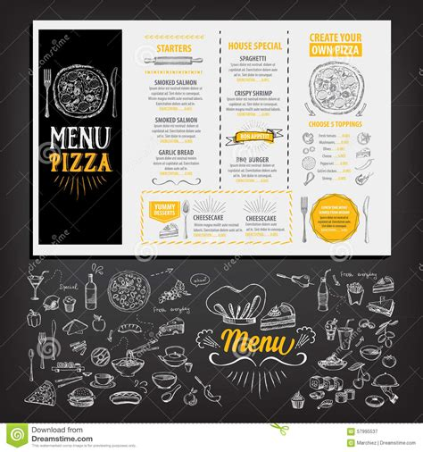 menu flyer template free restaurant cafe menu template design food flyer stock