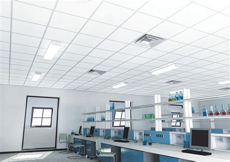 Cleanroom Ceiling Systems by Controsoffitti Acustici Clean Room Fl