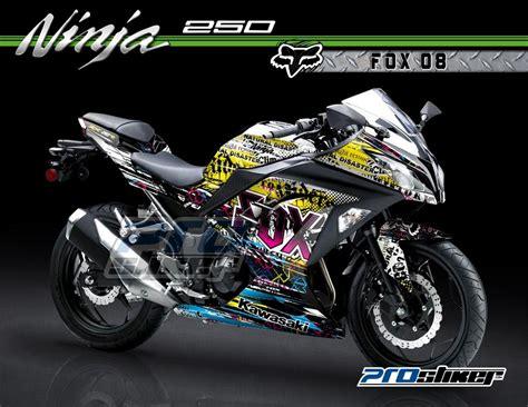 desain grafis stiker motor stiker motor ninja 250 injeksi printing dan cutting warna