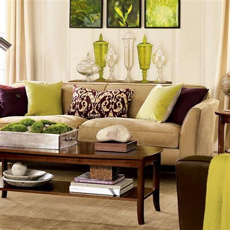 living room interior with brown green and brown they compliment each other well in this