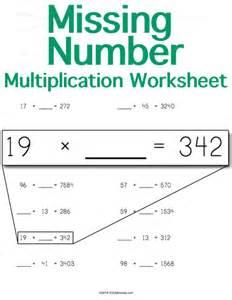 missing number multiplication worksheets year 4