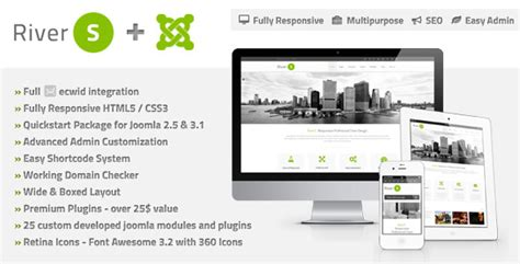 joomla templates for presentation rivers responsive multi purpose joomla template by