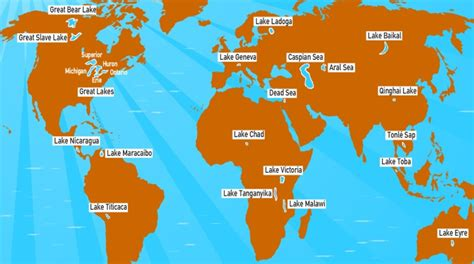 world map of seas and lakes important lakes on earth facts about lakes pmf ias