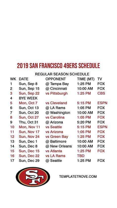 san francisco ers lock screen schedule