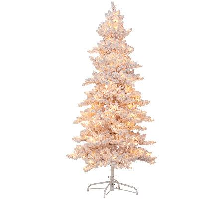 bethlehem lights slim flocked bedford spruce christmas