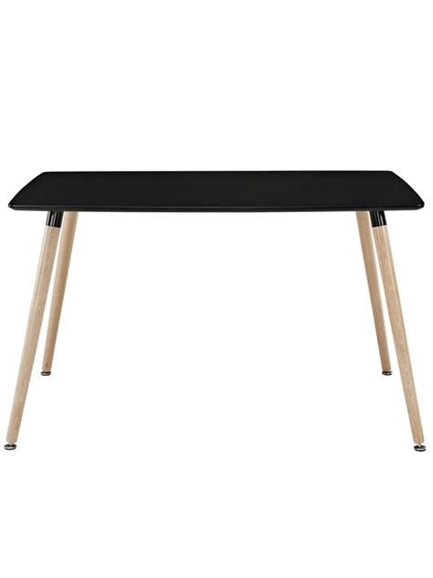 Black Wood Rectangular Dining Table Ombre Wood Rectangle Table Modern Furniture Brickell Collection