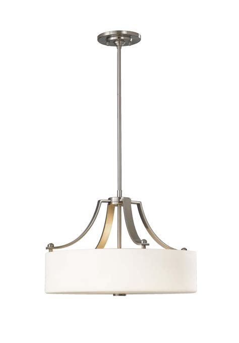 3 Light Drum Pendant Contemporary Living Rooms Murray Feiss F2404 3bs Sunset Drive Brushed Steel Three Light Drum