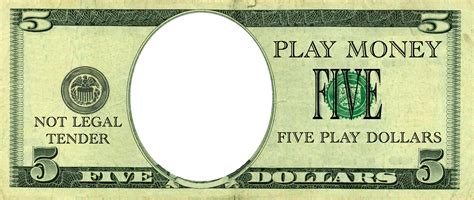 Money Template by Realistic Play Money Templates Free Printable Play Money