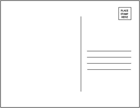 free blank postcard template for word best photos of free postcard templates free blank