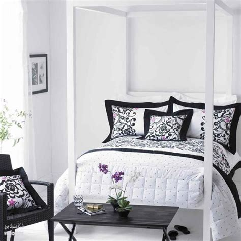 stunning black  white bedroom designs