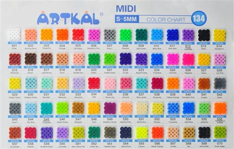 bead color charts bakers kidscrafts