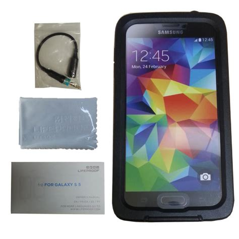 Lifeproof Fre Samsung S5 Black authentic lifeproof fre waterproof for galaxy s5