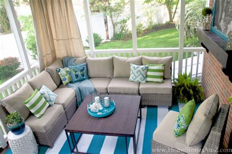 screen porch decorating ideas lowe s screen porch and deck makeover reveal