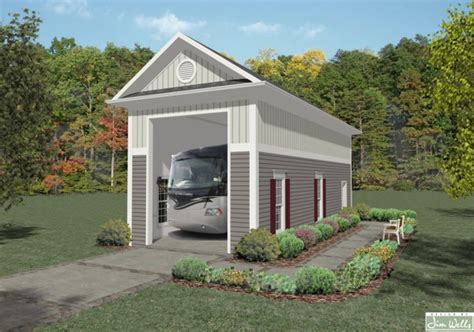 Rv Home Plans Rv Garage One 1683 The House Designers
