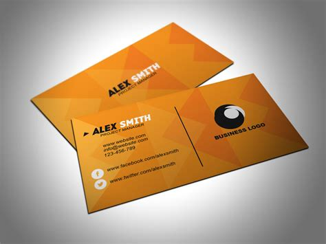 Free Orange Travel Business Card Templates by Free Orange Business Card Template By Designsbee