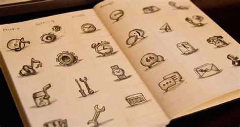 design icon sketch inspirational exles of icon sketching pixelpush design