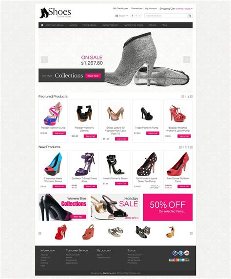 Cs03c00555 Premium Cs Cart Shoes Store Template Cs Cart Premium Templates