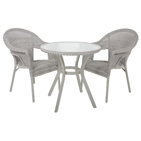 Wicker Bistro Table And Chairs Rattan Bistro 2 Seat Garden Furniture Table Chairs Set