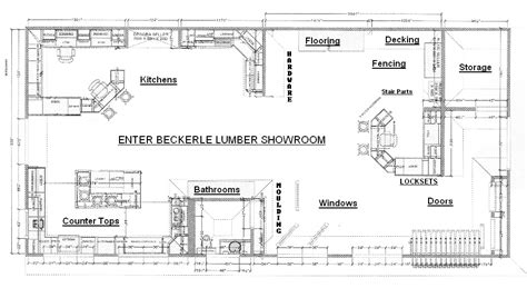 car showroom floor plan beckerle lumber entry