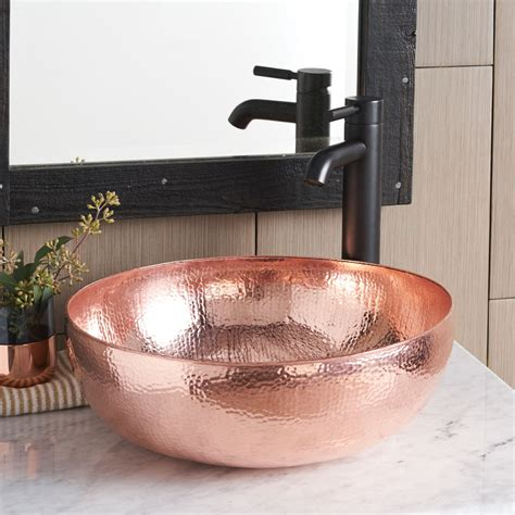 copper sinks bathroom 16 inch maestro round copper vessel sink native trails