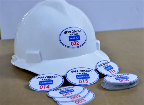 Site Induction Helmet Stickers