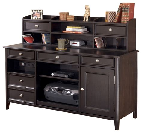home office desk and hutch carlyle home office large credenza desk hutch