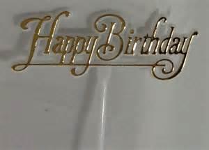 Gold_HB_Pick happy birthday gold cake pick on birthday cake kits