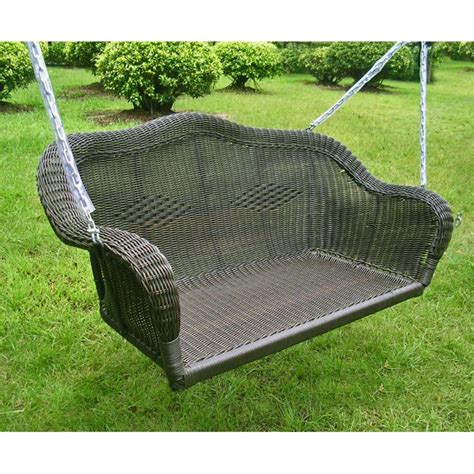 wicker swings for sale international caravan all season wicker swing with chains