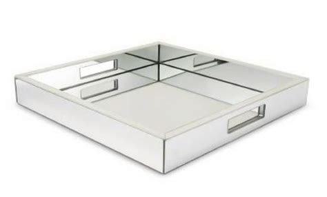 threshold mirrored tray mirror tray trays and ottomans