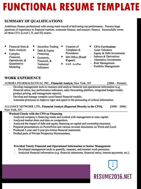 Functional Resume by Functional Resume Format 2016 How To Highlight Skills