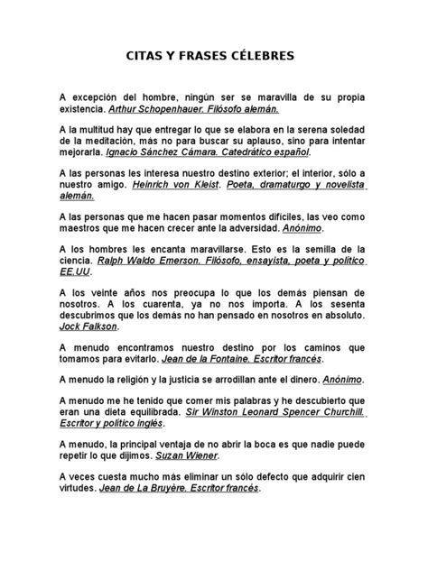 CITAS Y FRASES CÉLEBRES NBC