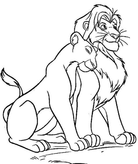 the lion king mufasa love nala coloring page coloring