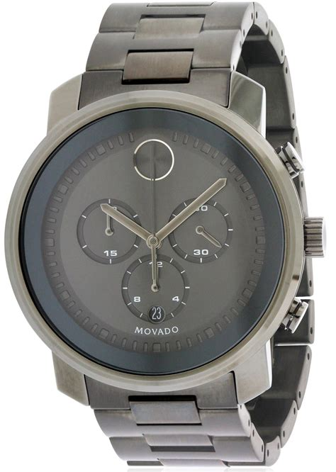 movado bold stainless steel chronograph mens 3600277