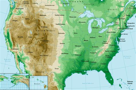 united states topography map united states topographical map