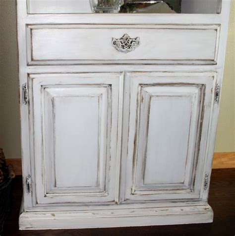 how to distress cabinets yourself diy tutorial on antiquing wood furniture for the home