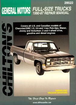 small engine service manuals 1993 chevrolet s10 blazer auto manual 1980 1987 1 2 3 4 1 ton chevy gmc pickup blazer jimmy suburban chilton manual