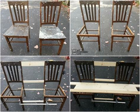 bench out of chairs 25 best ideas about chair bench on pinterest unusual furniture diy bench seat and