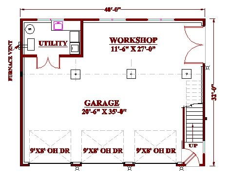 garage shop floor plans 3 bay garage workshop plan floor plans pinterest