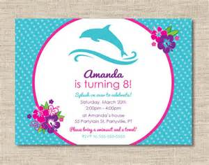 personalized dolphin birthday invitations diy printable
