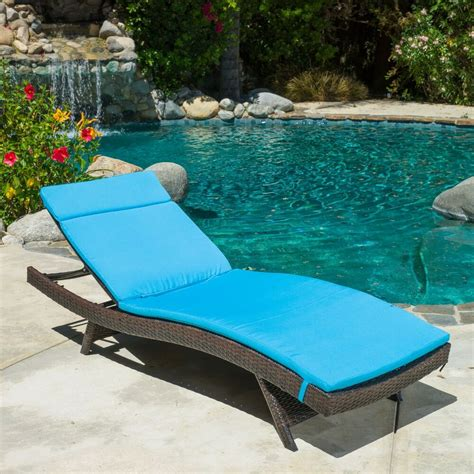 pool patio chairs outdoor patio furniture all weather wicker chaise lounge w