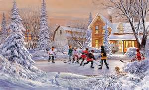 christmas scene wall murals pond hockey wall mural decor place wall murals