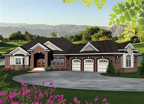 ranch house plans with walkout basement ranch home plan with walkout basement 89856ah 1st