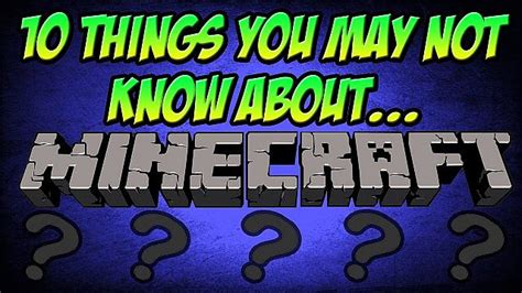 10 things you may not know about minecraft minecraft blog