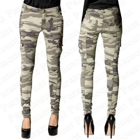 camo pattern skinny jeans pants trousers womens skinny jeans military camo