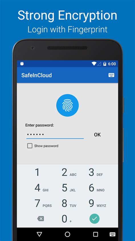 password manager for android safeincloud password manager android apps on play