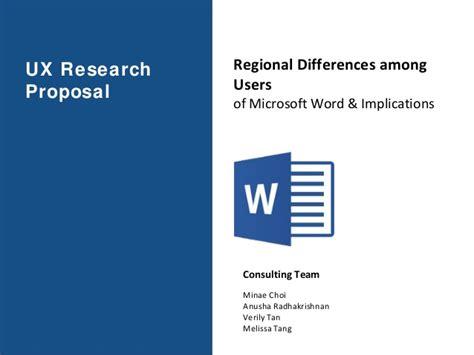 ux research proposal microsoft word regional