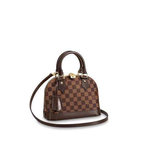 alma bb damier ebene canvas handbags louis vuitton