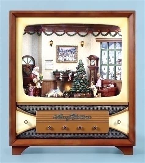 retro tv music boxes 35 quot vintage style console animated tv box wow