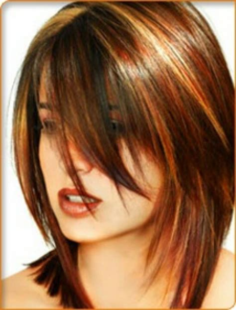 layered hair with low lights highlights short pin by teresa harris on my style me pinterest
