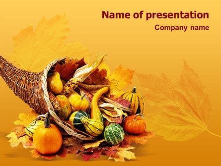 Free Thanksgiving Day Powerpoint Template Backgrounds 02819 Poweredtemplate Com Free Thanksgiving Powerpoint Templates